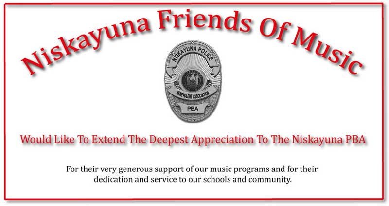 Niskayuna PBA thanks